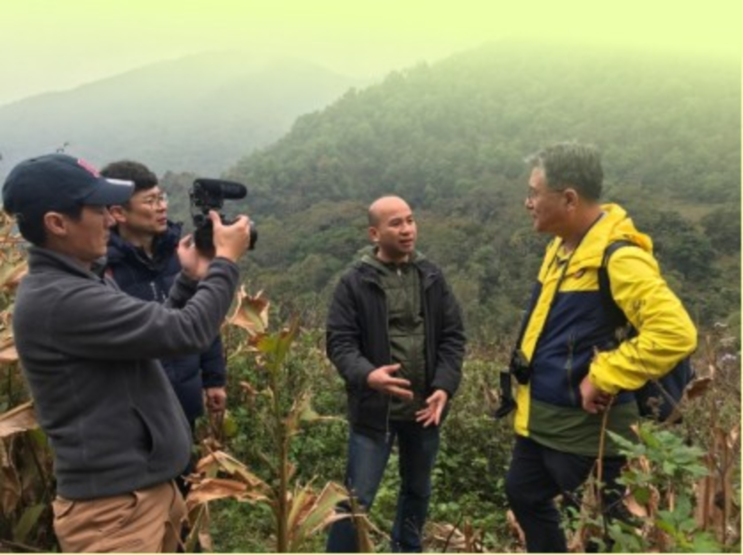 UNESCO global geopark video promotion production team in Cao Bang
