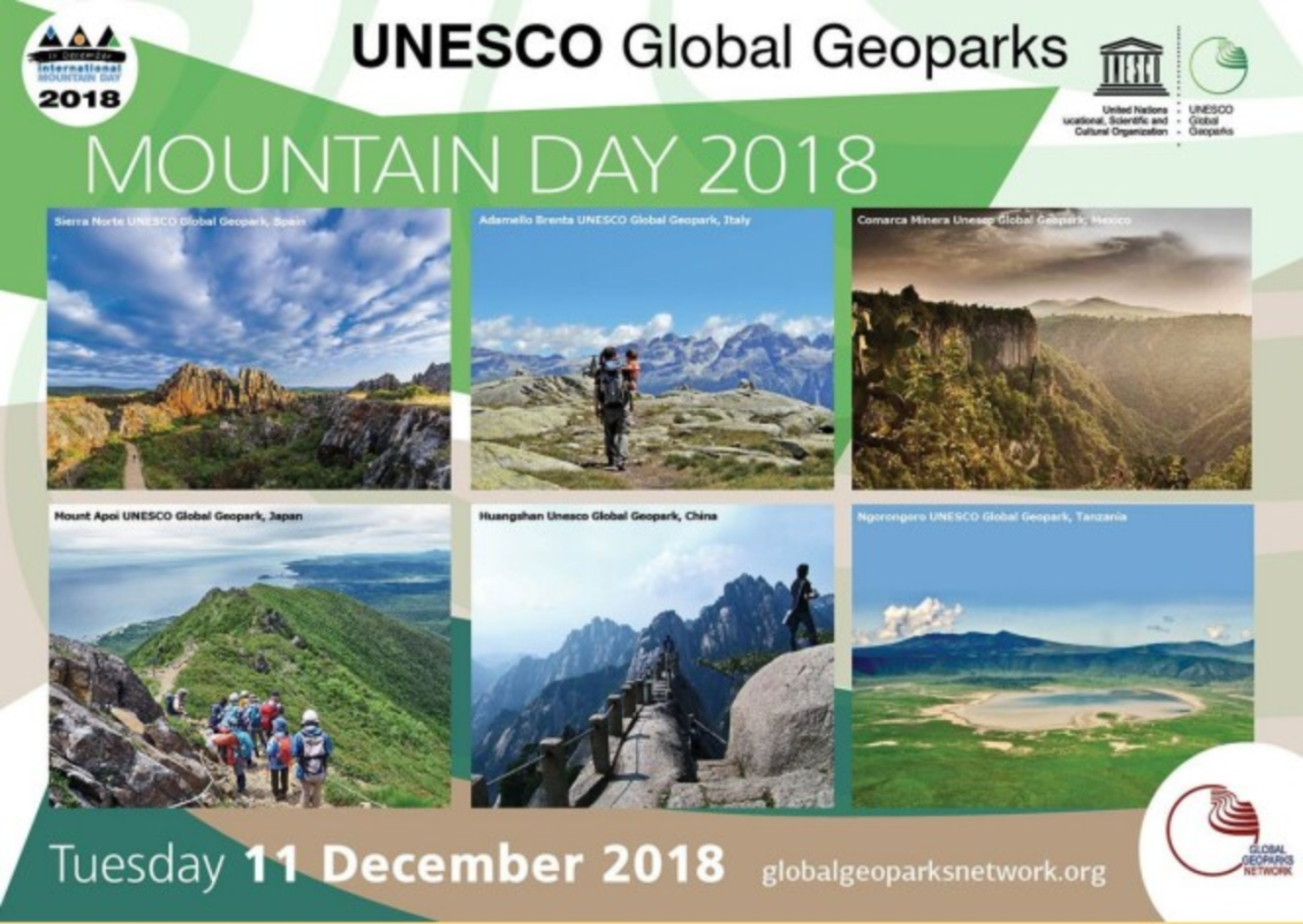UNESCO global geopark mountain day 2018