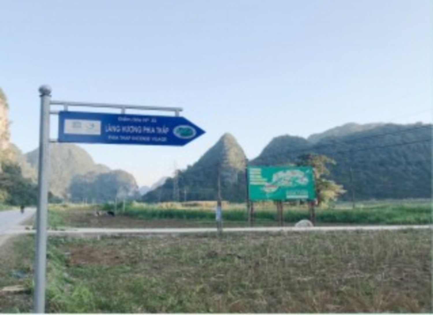 Survey on direction panel positioning for heritage site in Non nuoc Cao Bang UNESCO global geopark
