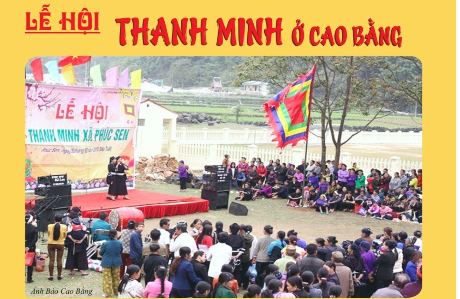 TOMB SWEEPING FESTIVAL IN CAO BANG