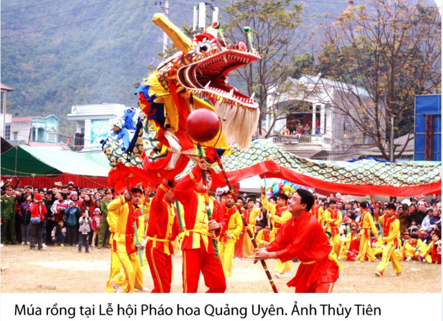Dragon dancing in Cracker spring festival.