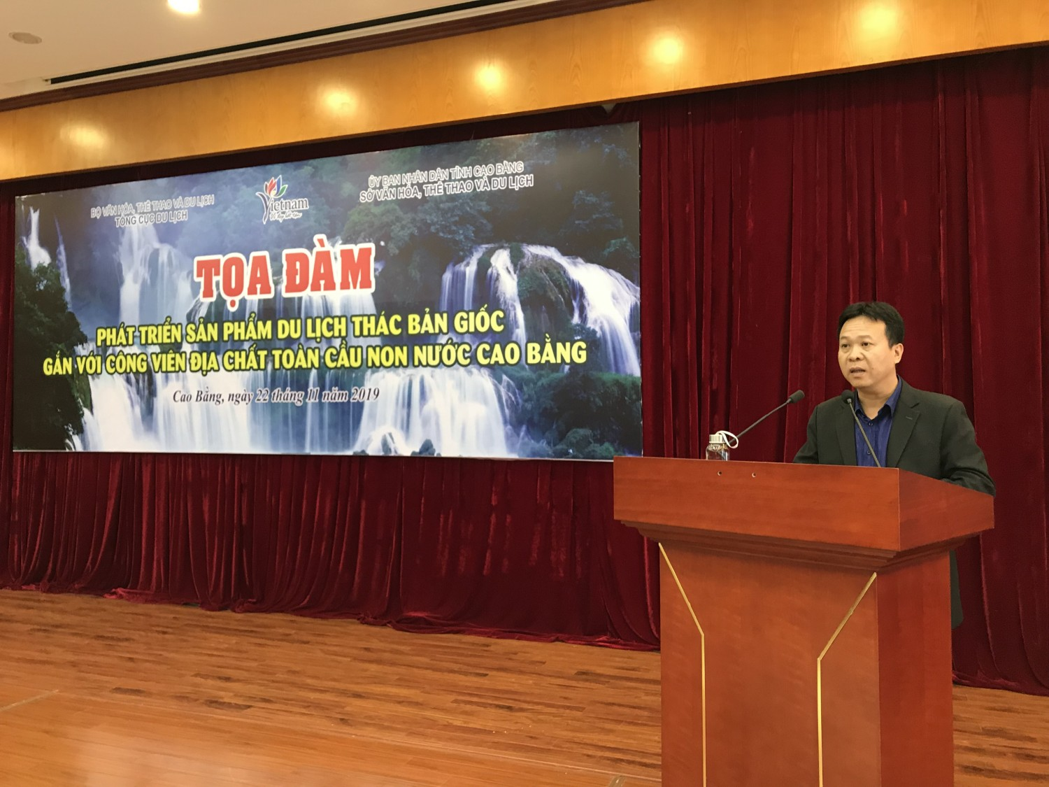 Mr. Nguyen Dao Dung, Deputy Director of General Department of Tourism made a remark at the Conference.